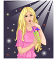 Girl drinks cocktail vector image