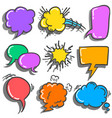 set of speech bubble various style vector image