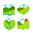 collection of rural landscape icon symbols and vector image vector image