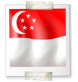 singapore flag on square paper vector image
