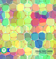 Colorful Honeycomb Seamless Background vector image