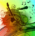 colorful grunge concert poster vector image vector image