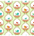 birds and flowers vector image