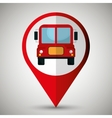 bus location isolated icon design vector image
