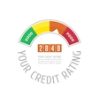 Credit counter with text vector image