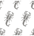 Hand drawn engraving Scorpion seamless pattern for vector image