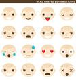 Head shaved boy emoticons vector image