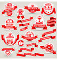 Premium set of labels and ribbons vector image