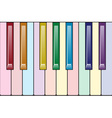 Rainbow piano keyboard vector image