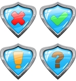 Shields with signs vector image
