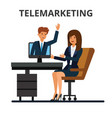 telemarketing online sales business conference vector image