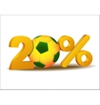 Twenty percent discount icon vector image