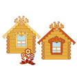 painted wooden houses vector image vector image