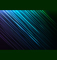 blue speed shower abstract line background vector image