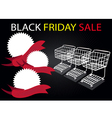 Shopping Carts and Banners in Black Friday vector image vector image