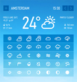 Weather widget icons set vector image