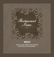 Restaurant menu book template vector image