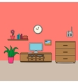 Design of room - sitting room vector image