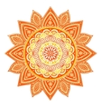 Beautiful Indian floral mandala ornament vector image