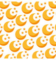 Cute moon pattern background vector image
