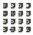 Different file types icons set isolated on white vector image