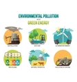 Environmental pollution and green energy ecology vector image