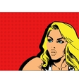Girl comics vector image