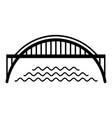 harbour bridge icon simple black style vector image