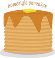 Homestyle Pancakes vector image