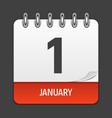 january 1 calendar daily icon vector image