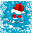 merry christmas holiday snow greeting card vector image