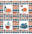 Plaid fabric seamless pattern scottish set vector image