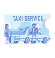 taxi service lineart concept vector image