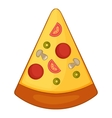 Slice of pizza icon cartoon style vector image