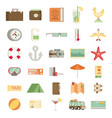 modern flat icons collection in stylish colors of vector image vector image
