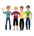 male friendship concept of boys men friends vector image vector image