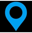 Map Marker flat blue color icon vector image