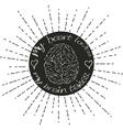 Brain lettering vector image