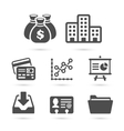 Business finance icons isolated on white vector image
