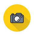 camera icon on round background vector image