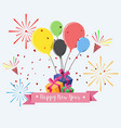 happy new year modern greeting card for vector image
