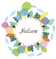Nature frame with trees and plants vector image
