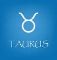taurus zodiac sign icon simple vector image