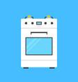 white gas stove icon vector image