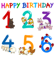birthday greeting card collection vector image