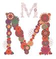 Letter M vector image