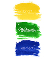 watercolor elements vector image vector image