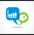 business graph and chart in message bubble vector image