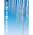 icicles chill cold vector image vector image