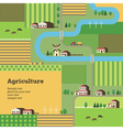 agriculture background yellow vector image